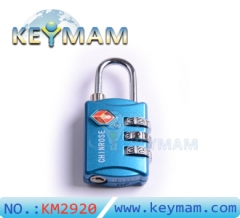 High Security TSA 309 Combination Travel Suitcase Luggage Lock Padlock(blue color)