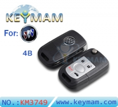 Buick HRV 4 button flip remote key shell