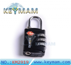 High Security TSA 309 Combination Travel Suitcase Luggage Lock Padlock(black color)
