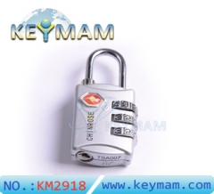 High Security TSA 309 Combination Travel Suitcase Luggage Lock Padlock(silver color)