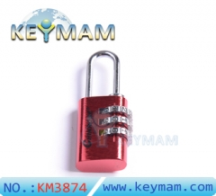 TSA Resettable 3 Digit Combination Travel Luggage Suitcase Lock Padlock(red color)