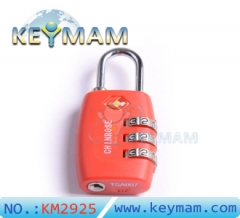 TSA 330 Combination Travel Suitcase Luggage Lock Padlock(red color)